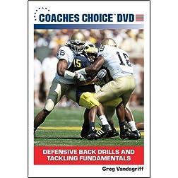 Defensive Back Drills and Tackling Fundamentals