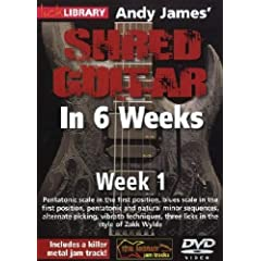 Andy James Shred Guitar in 6 Weeks: Week 1 DVD