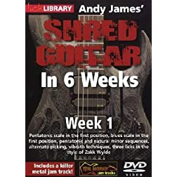 Andy James Shred Guitar in 6 Weeks: Week 1 DVD
