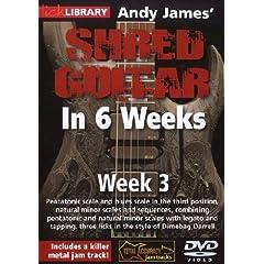 Andy James Shred Guitar in 6 Weeks: Week 3 DVD