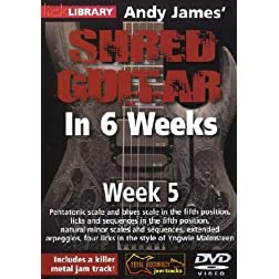 Andy James Shred Guitar in 6 Weeks: Week 5 DVD