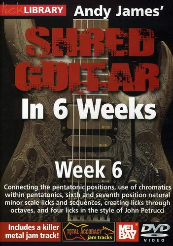 Andy James Shred Guitar in 6 Weeks: Week 6 DVD