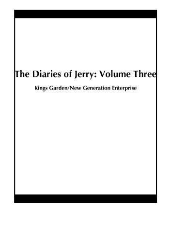 The Diaries of Jerry: Volume Three