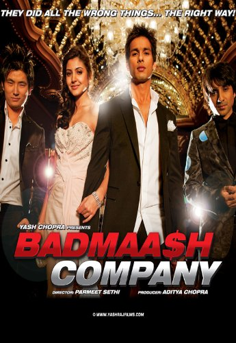 Badmaash Company - Shahid Kapoor / Yash Raj (New Hindi Film / Bollywood Movie / Indian Cinema DVD)