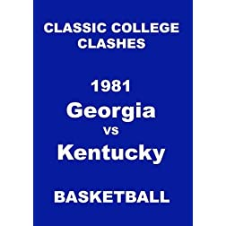 1981 Georgia vs Kentucky Basketball