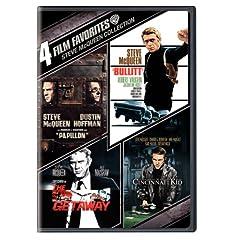 Steve McQueen Collection: 4 Film Favorites (Papillon / Bullitt / The Getaway / The Cincinnati Kid)
