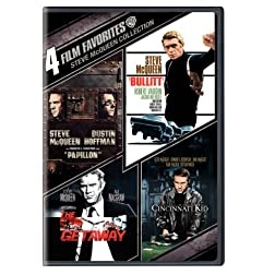 Steve McQueen Collection: 4 Film Favorites (Papillon / Bullitt / The Getaway / The Cincinnati Kid)