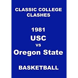 1981 USC vs Oregon State Basketball