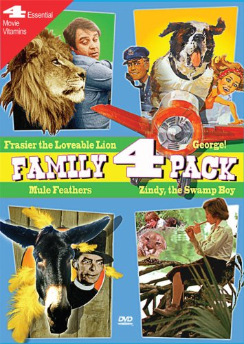 Family Movie 4 Pack: George!, Frasier the Loveable Lion, Mule Feathers, Zindy, The Swamp Boy