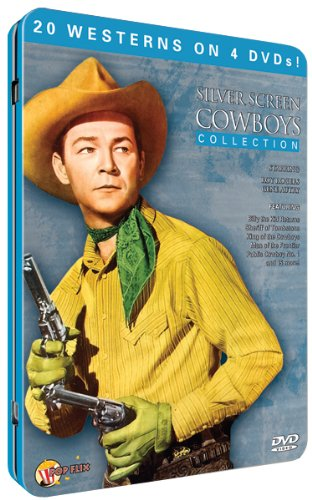 Silver Screen Cowboys (4pc) (Full B&W Tin)