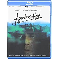 Apocalypse Now (Three-Disc Full Disclosure Edition) (Apocalypse Now / Apocalypse Now Redux / Hearts of Darkness) [Blu-ray]
