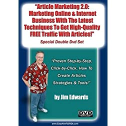 """Article Marketing 2.0: Marketing Online and Internet Business With The latest Techniques To Get High-Quality, Free Traffic With Articles..."""