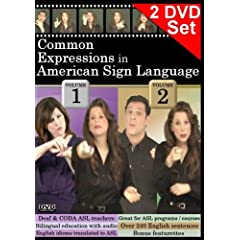 Common Expressions in American Sign Language, Vol. 1-2 Set