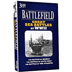BATTLEFIELD - Great Sea Battles of WWII - 3 DVD SET!