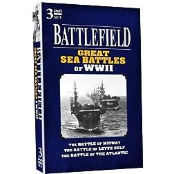 BATTLEFIELD - Great Sea Battles of WWII - 3 DVD SET!