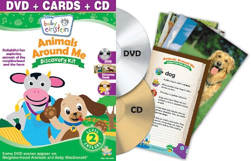 Baby Einstein: Animals Around Me Discovery Kit ( DVD + CD and Discovery Cards)