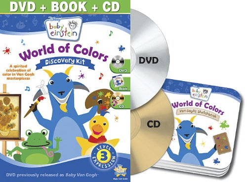 Baby Einstein: World of Colors Discovery Kit (DVD + CD and Board Book)