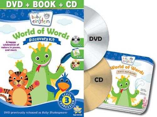 Baby Einstein: World of Words Discovery Kit (DVD + CD and Board Book)