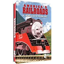America's Railroads - All Aboard: Legacy of the Iron Horse - 2 DVD Embossed Tin!