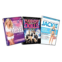 Celebrity Fitness Bundle (Dance With Julianne: Cardio Ballroom / Pussycat Dolls Workout / Personal Training With Jackie: Power Circuit Training)