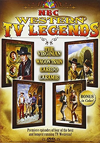 NBC Western TV Legends - 4 of the first episodes of the longest running TV Westerns! The Virginian, Laredo, Laramie, Wagon Train!
