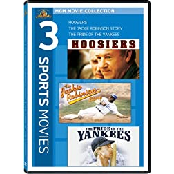 Hoosiers/The Jackie Robinson Story/The Pride Of The Yankees