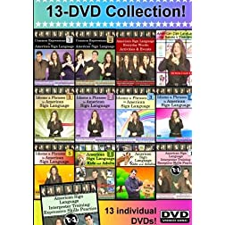 13-DVD Complete American Sign Language DVD Library