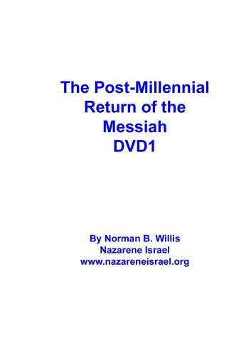The Post Millennial Return DVD1