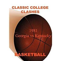 1981 Georgia vs Kentucky
