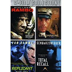 Four-Film Collection (Rambo / Legionnaire / Replicant / Total Recall)