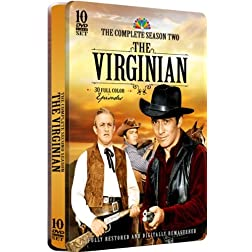 The Virginian - The Complete Season Two - 30 Full Color Episodes! 10 DVD Set in a COLLECTIBLE EMBOSSED TIN!