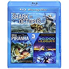 Mega Shark vs. Giant Octopus / Mega Piranha / 30,000 Leagues Under the Sea [Blu-ray]