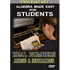 Algebra 1 Made Easy for Students: Adding & Subtracting Real Numbers (2 Disc Set)