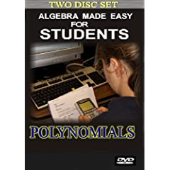 Algebra 1 Made Easy for Students: Polynomials (2 disc set)