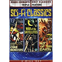 Roger Corman's Cult Classics Triple Feature (Attack of the Crab Monsters / War of the Satellites / Not of This Earth)