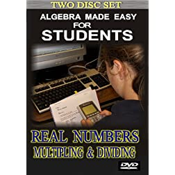 Algebra made easy for students. Real numbers multiplying & dividing (2 Disc Set)