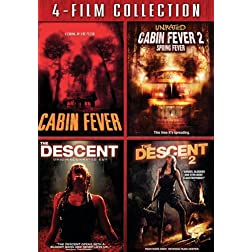 Four Film Collection (Cabin Fever / Cabin Fever 2 / Descent / Descent 2)
