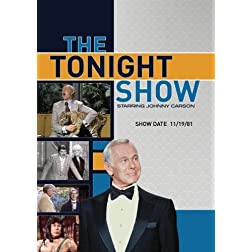 The Tonight Show starring Johnny Carson - Show Date: 11/19/81