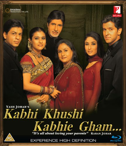 Kabhi Khushi Kabhie Gham (Shahrukh Khan - Karan Johar / Bollywood Movie / Indian Cinema / Hindi Film Blu-ray DVD)
