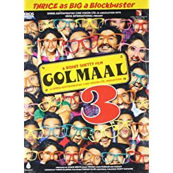 Golmaal 3 Bollywood DVD With English Subtitles