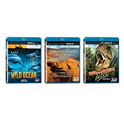 IMAX 3D Bundles (Grand Canyon Adventure / Dinosaurs Alive! / Wild Ocean) [Blu-ray]
