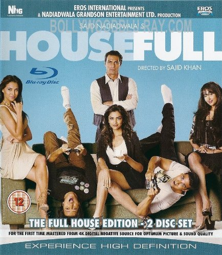 Housefull (Comedy Bollywood Movie / Indian Cinema / Hindi Film Blu-ray DVD)