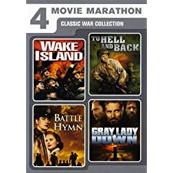 4 Movie Marathon: Classic War Collection (Wake Island / To Hell and Back / Battle Hymn / Gray Lady Down)