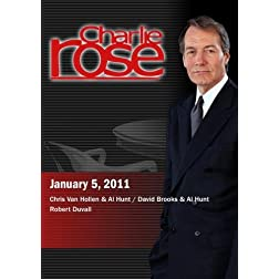 Charlie Rose - Chris Van Hollen & Al Hunt / David Brooks & Al Hunt / Robert Duvall  (January 5, 2011)