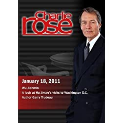 Charlie Rose - Wu Jianmin  / A look at Hu Jintao's visits to Washington D.C. / Author Garry Trudeau (January 18, 2011)
