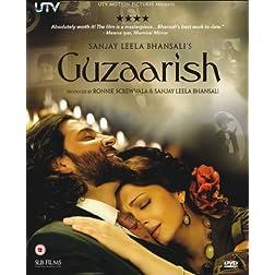Guzaarish DVD Bollywood DVD With English Subtitles (Sanjay Leela Bhansali)