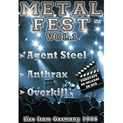 Overkill/anthrax/agent Steel - Metal Fest: Live From Germany 86