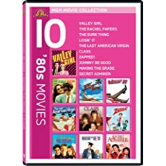80s 10-Pack (Valley Girl / Rachel Papers / The Sure Thing / Losin' It / The Last American Virgin / Class / Zapped! / Johnny Be Good / Making the Grade / Secret Admirer)