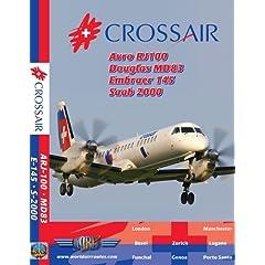 Crossair ARJ100, ERJ-145, MD83 & Saab 2000