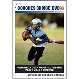Animated Youth Football Passing Plays VS. 4-3 Defense